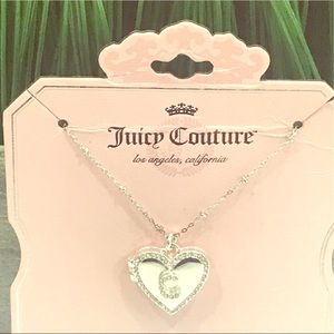 """JUICY COUTURE Silver """"C"""" Locket Necklace New"""